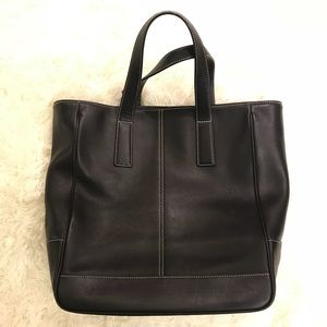 Coach Tote Authentic Black/brown leather